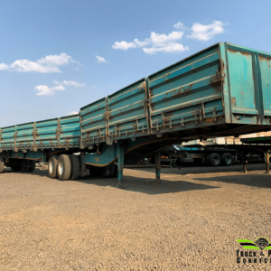 2 x 2009 SA Truck Bodies Flat Deck Superlink (#1604 / #1605)